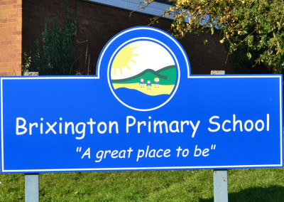 Brixington-Primary-School-post-sign