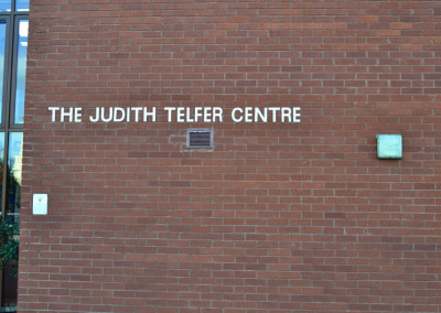 Judith-telfer-centre-sign