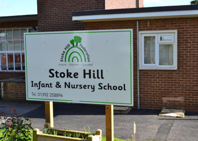 Stoke-hill-infant-school-post-sign