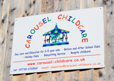 carousel-childcare-wall-sign