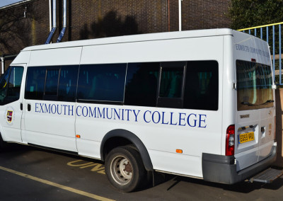 exmouth-community-college-mini-bus-sign
