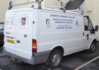 exmouth-community-college-transit-van-sign