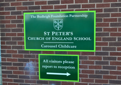 st-peters-cofe-school-wall-sign