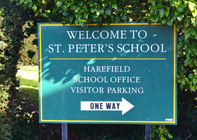 st-peters-school-post-sign